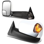 Dodge Ram 2500 1998-2002 Chrome Power Heated Towing Mirrors Smoked Signal Lights