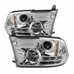 2017 Dodge Ram Clear Projector Headlights Tube DRL