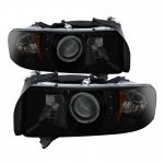 2002 Dodge Ram 3500 Black Smoked Halo Projector Headlights with LED