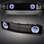 2007 Ford Mustang V6 Black Billet Grille and Halo Fog Lights