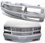 Chevy Suburban 1994-1999 Chrome Billet Grille Shell
