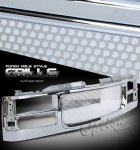 GMC Sierra 2500 1994-2000 Chrome Punch Grille