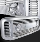 Ford F250 Super Duty 1999-2004 Chrome Billet Grille and Fog Lights