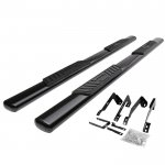 2002 Dodge Ram 1500 Quad Cab Nerf Bars Black 5 Inches Oval
