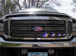 2002 Ford F350 Super Duty Polished Aluminum Billet Grille Insert