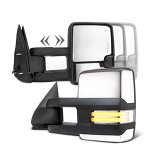 GMC Yukon XL Denali 2003-2006 Chrome Towing Mirrors Clear Tube Signal Power Heated