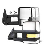 Chevy Suburban 1992-1999 Chrome Power Towing Mirrors Clear Tube Signal Lights