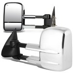 Chevy Silverado 1999-2002 Chrome Towing Mirrors Power Heated