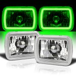 1986 Hyundai Excel Green Halo Tube Sealed Beam Headlight Conversion