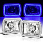 2000 Ford F250 Blue SMD LED Sealed Beam Headlight Conversion