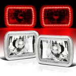 1986 Hyundai Excel Red SMD LED Sealed Beam Headlight Conversion