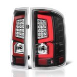 GMC Sierra 1500 2014-2018 Custom LED Tail Lights Black Red
