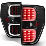 2010 Ford F150 Black LED Tube Tail Lights