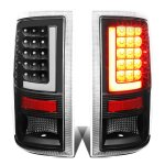 2010 Dodge Ram 3500 Tube LED Tail Lights Black