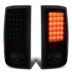 2010 Dodge Ram 3500 Black Smoked LED Tail Lights