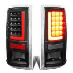 2012 Dodge Ram Black LED Tail Lights Red Tube
