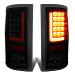 2010 Dodge Ram 3500 Black Smoked LED Tail Lights Red Tube