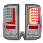 2012 Dodge Ram Chrome LED Tail Lights Red Tube