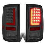 2012 Dodge Ram Smoked LED Tail Lights Red Tube