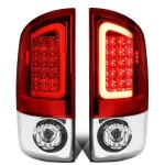 2008 Dodge Ram Red Clear LED Tail Lights Tube