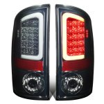 2008 Dodge Ram Smoked LED Tail Lights Tube