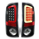 Dodge Ram 2007-2008 Black LED Tail Lights Red Tube
