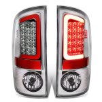 Dodge Ram 2007-2008 Chrome LED Tail Lights Red Tube