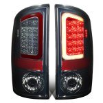 Dodge Ram 2007-2008 Smoked LED Tail Lights Red Tube