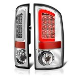 2004 Dodge Ram 3500 Chrome LED Tail Lights Tube