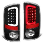 2005 Dodge Ram Black LED Tail Lights Tube