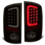 2004 Dodge Ram 3500 Black Smoked LED Tail Lights Tube
