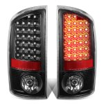 2004 Dodge Ram 3500 Black LED Tail Lights
