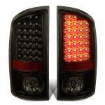 2004 Dodge Ram 3500 Black Smoked LED Tail Lights