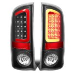2005 Dodge Ram Black LED Tail Lights Red Tube