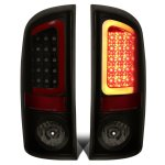 2004 Dodge Ram 2500 Black Smoked LED Tail Lights Red Tube
