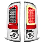 2004 Dodge Ram 3500 Chrome LED Tail Lights Red Tube