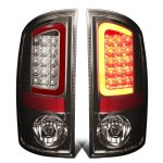 2004 Dodge Ram 2500 Smoked LED Tail Lights Red Tube