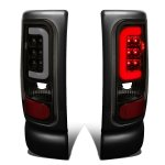 Dodge Ram 2500 1994-2002 Black Smoked LED Tail Lights Tube
