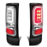 1997 Dodge Ram Chrome LED Tail Lights Tube