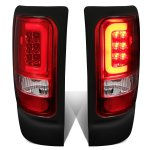 1997 Dodge Ram Red Clear LED Tail Lights Tube