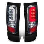 1997 Dodge Ram Smoked LED Tail Lights Tube