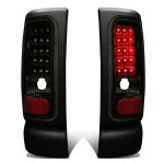 1997 Dodge Ram Black Smoked LED Tail Lights