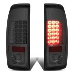 2013 Ford F450 Super Duty Smoked LED Tail Lights