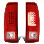 2008 Ford F350 Super Duty Custom LED Tail Lights Red Tube