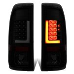 2001 Ford F250 Super Duty Black Smoked LED Tail Lights Tube