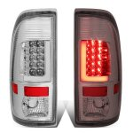 2002 Ford F250 Super Duty Chrome LED Tail Lights Tube
