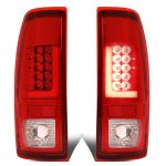 2007 Ford F350 Super Duty Red LED Tail Lights Tube