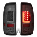 2007 Ford F350 Super Duty Smoked LED Tail Lights Tube