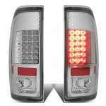 2002 Ford F250 Super Duty Chrome LED Tail Lights