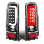 2002 GMC Yukon XL Black LED Tail Lights Tube